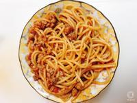 蕃茄肉醬義麵(簡易版)