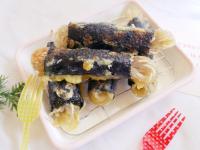 免油炸「韓式海苔冬粉捲」酥脆好吃~