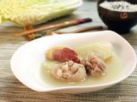 港式火腿白菜煲雞湯