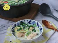 減醣起司蝦蝦肉丸豆漿菠菜湯(減脂)