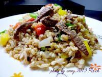 彩椒牛肉炒飯