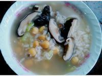 養生雪蓮子香菇素鹹粥