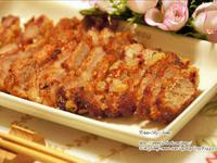 紅糟(紅麴)梅花肉排