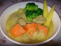 綠咖哩椰汁雞