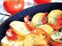 【懶人馬鈴薯料理】馬鈴薯與番茄的雙人舞