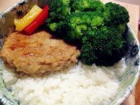 【副食品】照燒山藥豬肉漢堡排