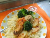 奶油大蒜烤雞腿與北非小米couscous