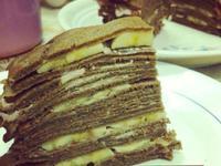 不需烤箱~✞ 香蕉巧克力千層蛋糕 ✞