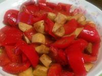 義式香炒紅椒杏鮑菇