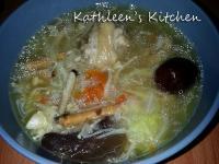 韓式人蔘百菇糯米雞湯