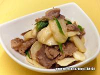 蔥爆牛肉茭筍片《茭白筍6》