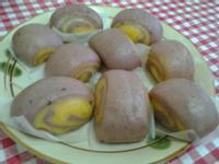 Y芬的小廚房--雙色地瓜饅頭