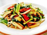 五香豆乾炒韭菜