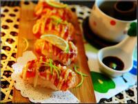 [桂冠夏至涼拌] - 炙燒鮭魚握壽司