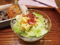 芝麻醬培根蛋皮沙拉