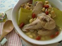 《九陽上菜》冬瓜黃豆干貝土雞湯
