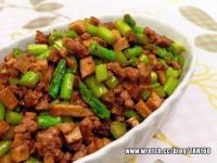 ♣炸醬豆干炒蘆筍♣肉末下飯菜~6