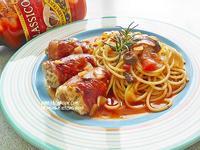 【Classico義大利麵醬】蘑菇橄欖培根雞肉捲麵