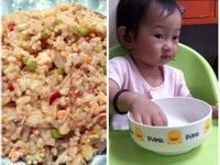 [小寶的飯飯]芋絲鮭魚炒飯