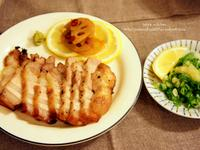 烤鹽麴五花肉佐檸檬蔥花蒜泥