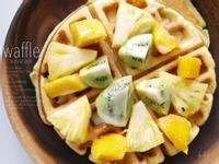 熱帶風格子鬆餅