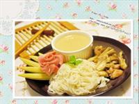 舞菇豆腐沾麵