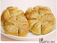 花型椰子餡麵包