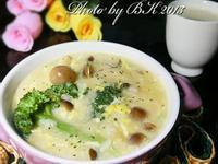 蔬菜玉米蛋粥+玉米汁【九陽豆漿機】