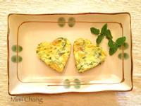 【七夕食譜】Mimi♥愛心香草蛋餅