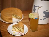 <九陽豆漿機>豆漿斑紋戚風蛋糕、翡翠檸檬綠茶