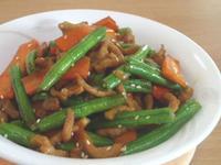 健康少油的蘿蔔長豆照燒豬