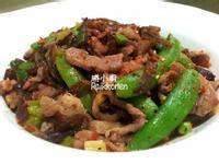 甜豆炒豬肉片