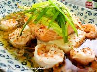 鮭魚蝦仁蒸豆腐