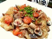 水餃皮海鮮炒麵