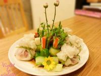 花藝般的料理-絲瓜蝦仁小荷包