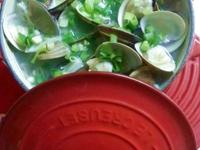 鮮甜青蔥蛤蠣湯