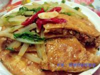 豆皮鑲肉燴小白菜