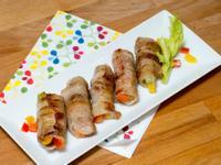 捲捲蔬菜豬五花肉片卷
