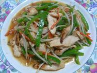 lanni  醬油麴雞肉片炒青椒
