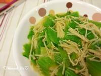 金針菇燴芥菜