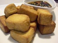 外焦內嫩的吮指脆皮豆腐