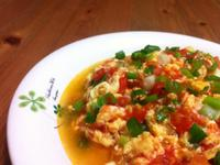 番茄蝦仁炒蛋