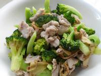 麻油肉片炒青花菜