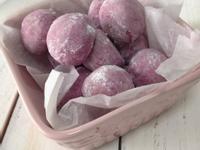Sweet potato snowball cookie 紫薯雪球曲奇