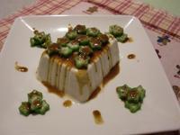拉比尼亞廚房~秋葵涼拌豆腐