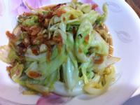 高麗菜炒櫻花蝦