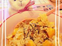 地瓜雞腿炊飯♪