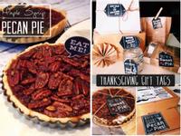 楓糖培根胡桃派 + 禮物小卡下載! Maple Syrup, Bacon, Pecan Pie + Free Printable!