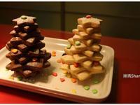 美麗的聖誕樹餅乾