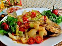 咖哩甜雞醬紅燒魚-【牛頭牌咖哩塊】